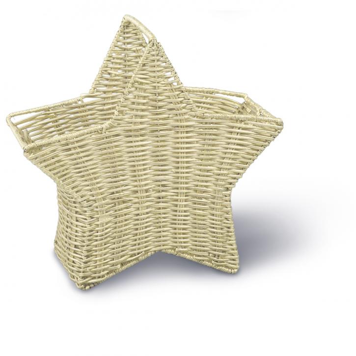Henkelkorb sternförmig, gold