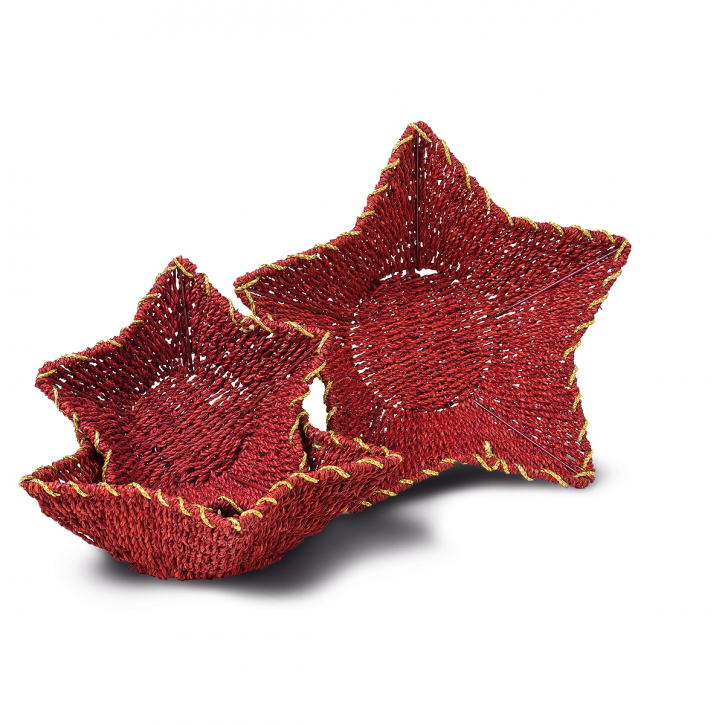 Weihnachtsschalenkorb sternförmig, rot