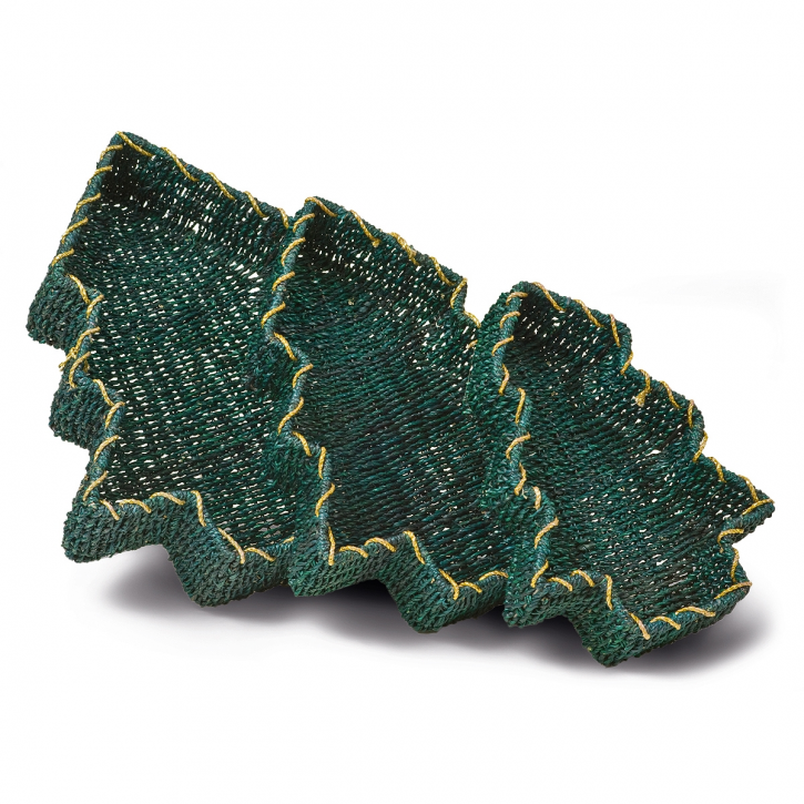 Schalenkorb tannenbaumförmig, grün