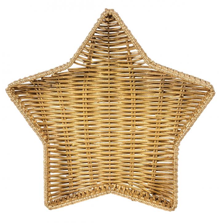 Schalenkorb sternförmig, gold