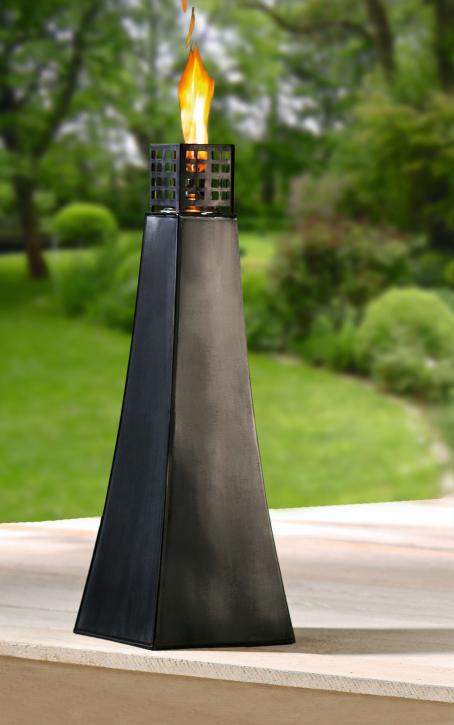 Große Metall-Öllampe