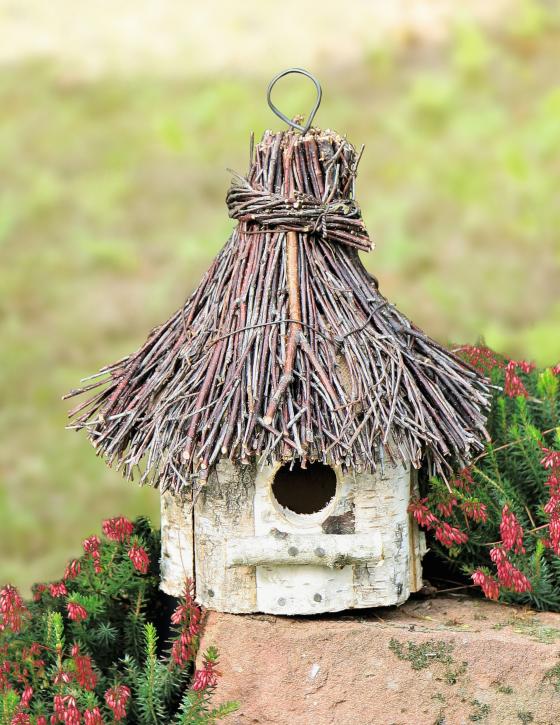 Vogelhaus rund, natur