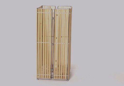 Schirmständer, Naturbraun, T 20cm x B 20cm x H 45cm