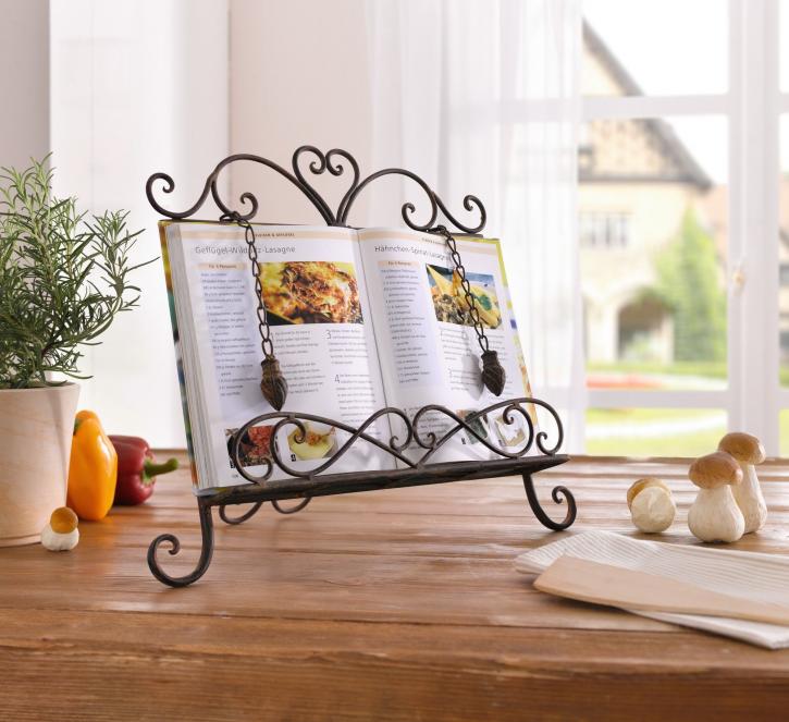 Kochbuch-Ständer 'Haute Cuisine', dunkelbraun