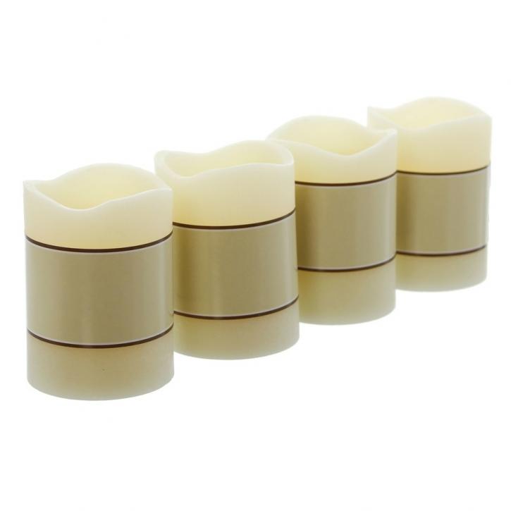 LED-Kerze 'Dauerbrenner', creme, 4er Set