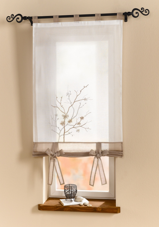 Fenstervorhang 'Blütenzweig'