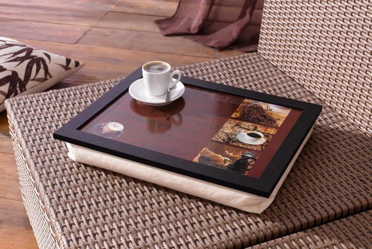 Knie-Tablett 'Kaffee'