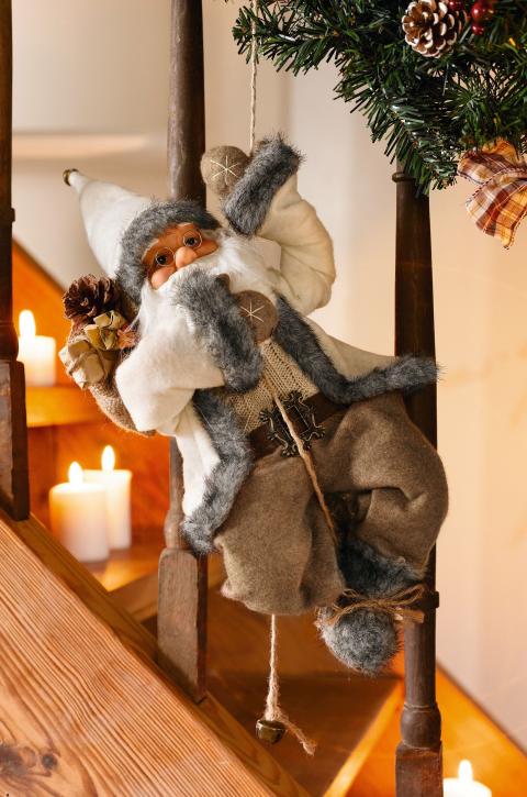 Deko-Figur 'Kletternder Santa'