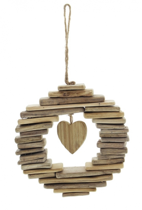 Kranz 'Wooden Heart'