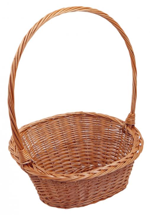 Geschenkkorb 'Schräg' oval, braun