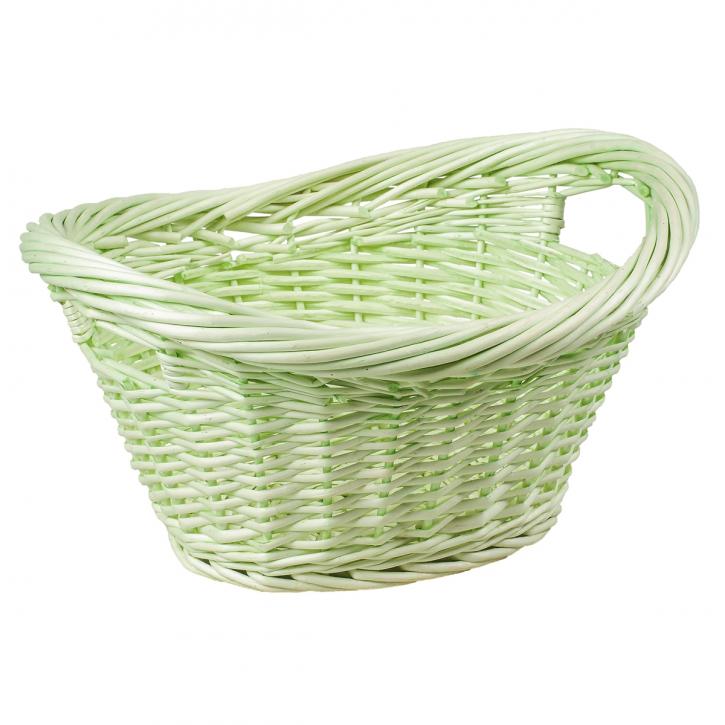 Badezimmerkorb oval, grün