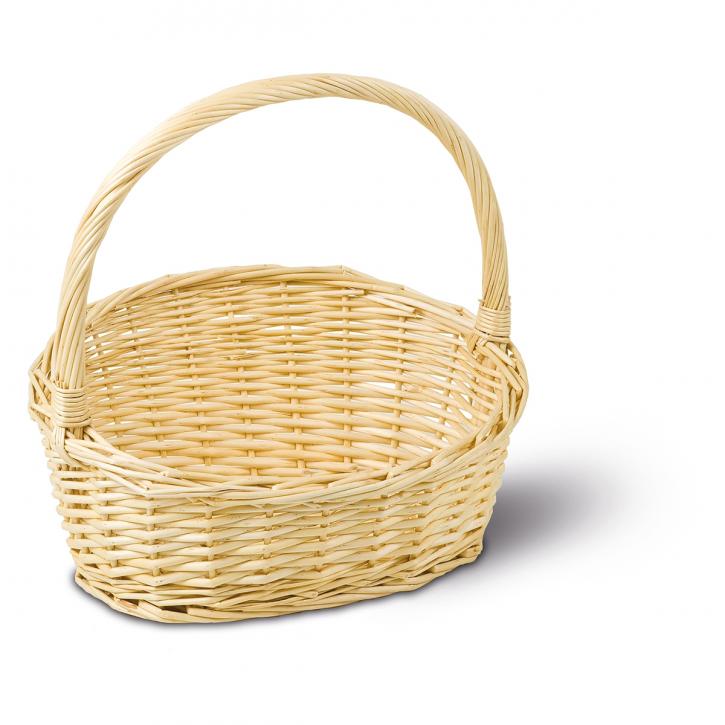 Geschenkkorb oval, weiß/natur