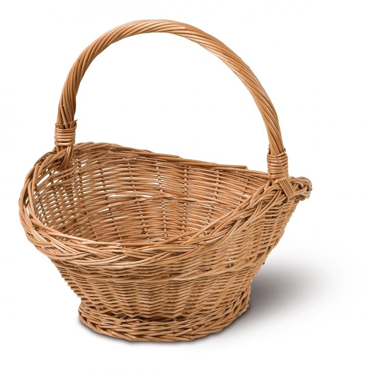 Geschenkkorb oval, braun