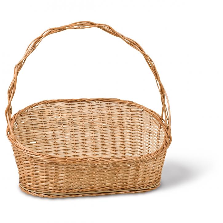 Geschenkkorb oval/schräg, braun