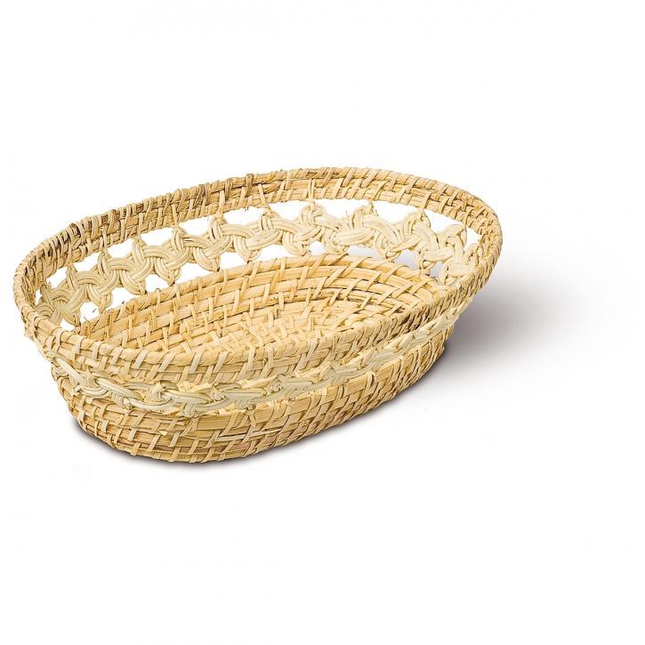 Schalenkorb oval, natur/hellbraun