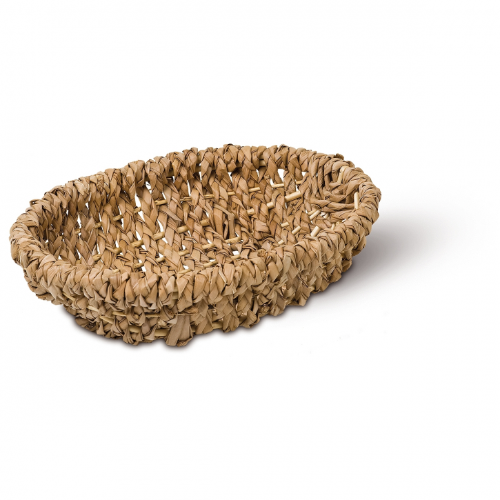Schalenkorb oval braun