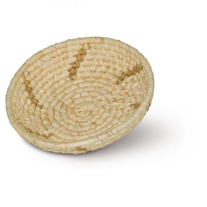Schalenkorb rund, natur/hellbraun