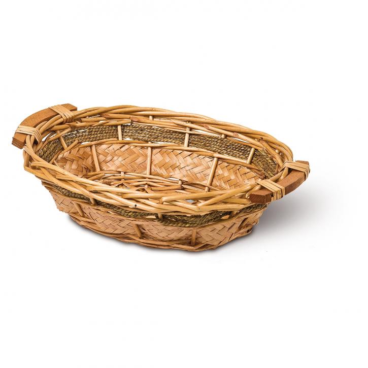 Schalenkorb oval, natur/braun