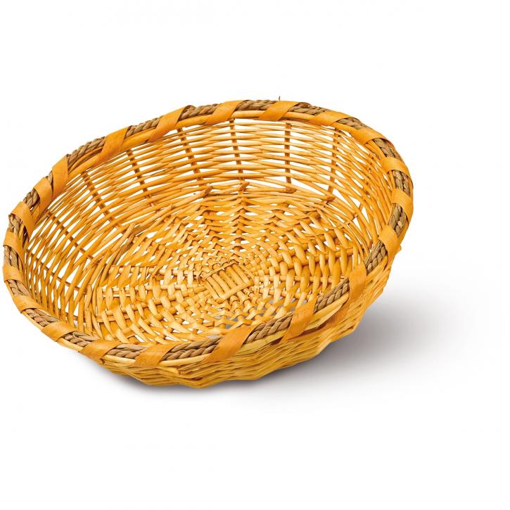 Schalenkorb rund, hellbraun