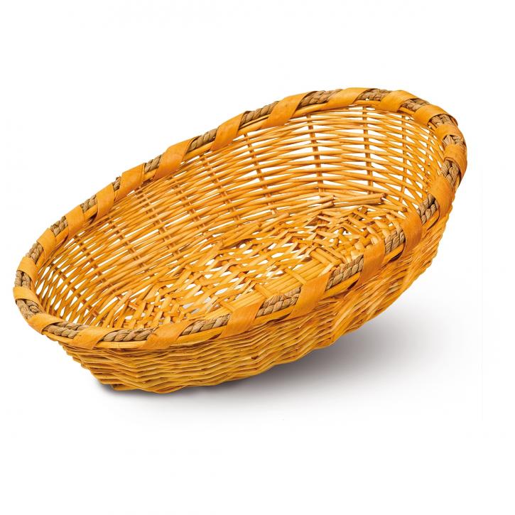 Schalenkorb oval, hellbraun