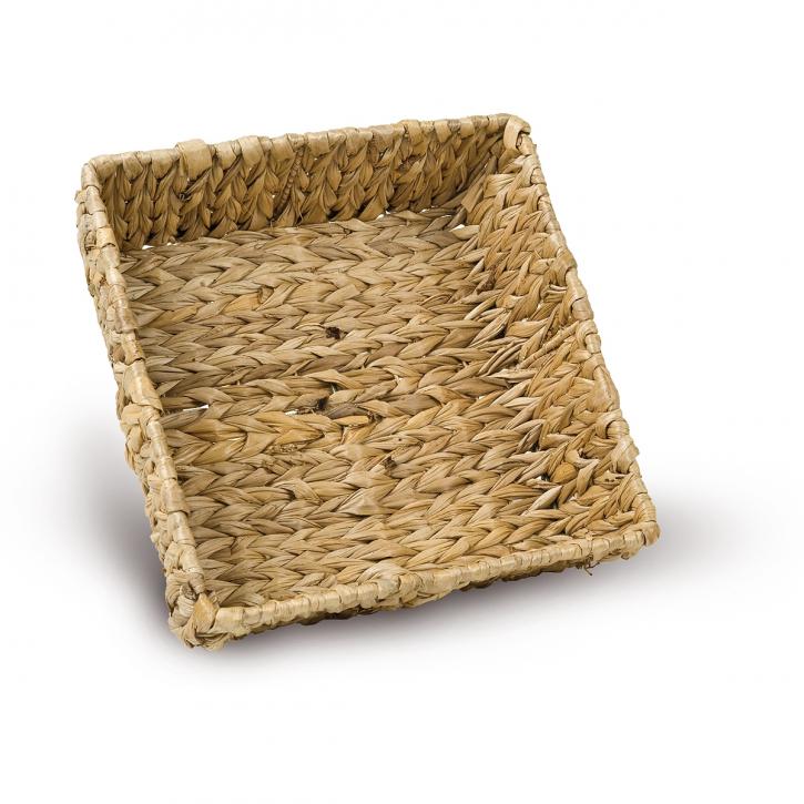 Schalenkorb quadratisch, hellbraun