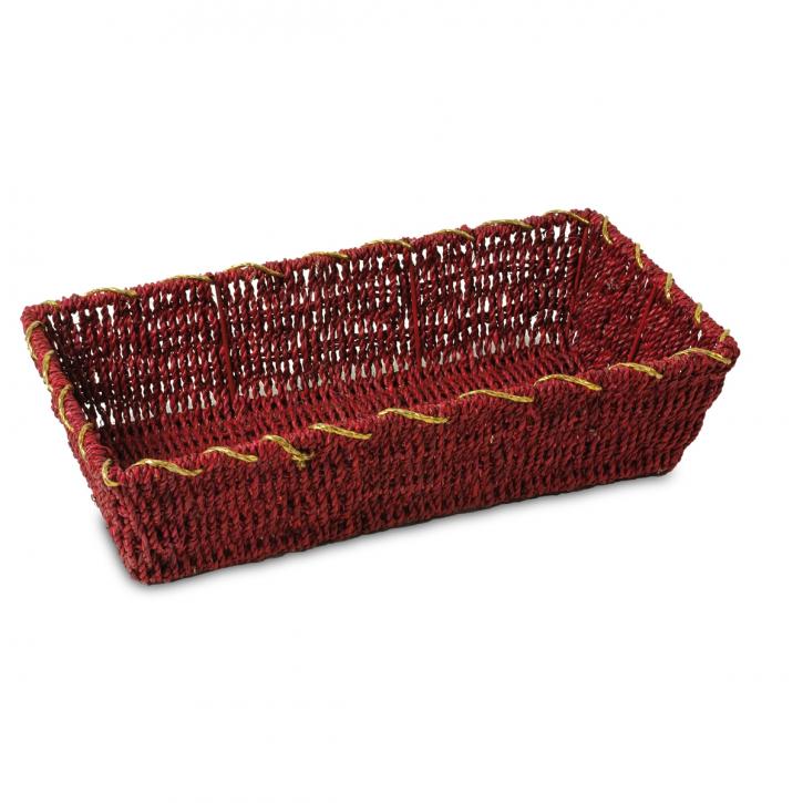Schalenkorb rechteckig, rot