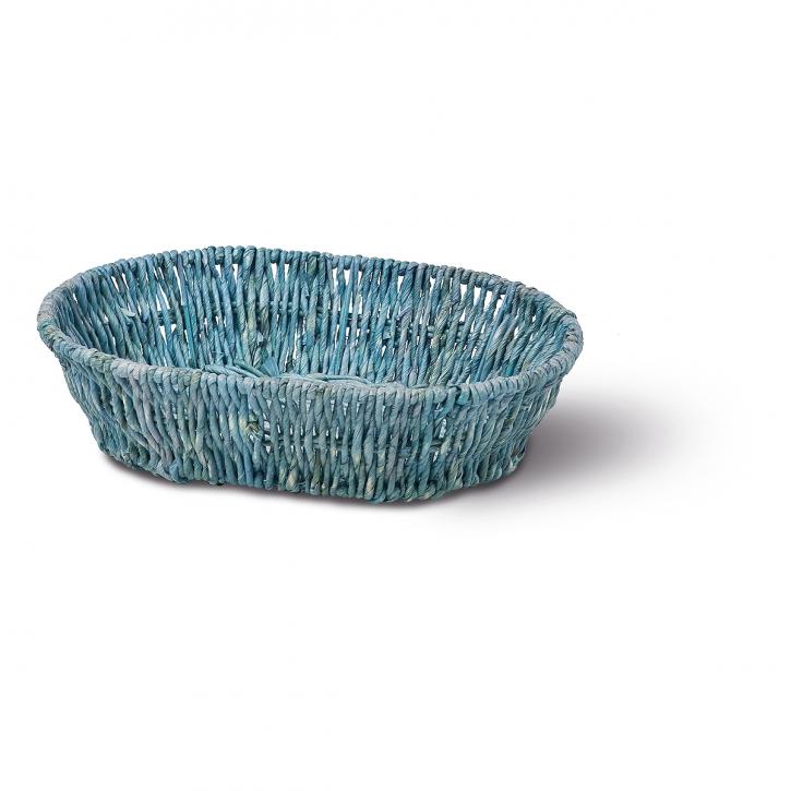 Schalenkorb oval blau