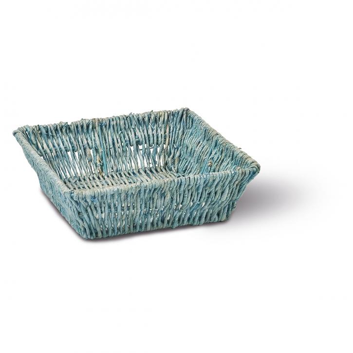 Schalenkorb quadratisch blau