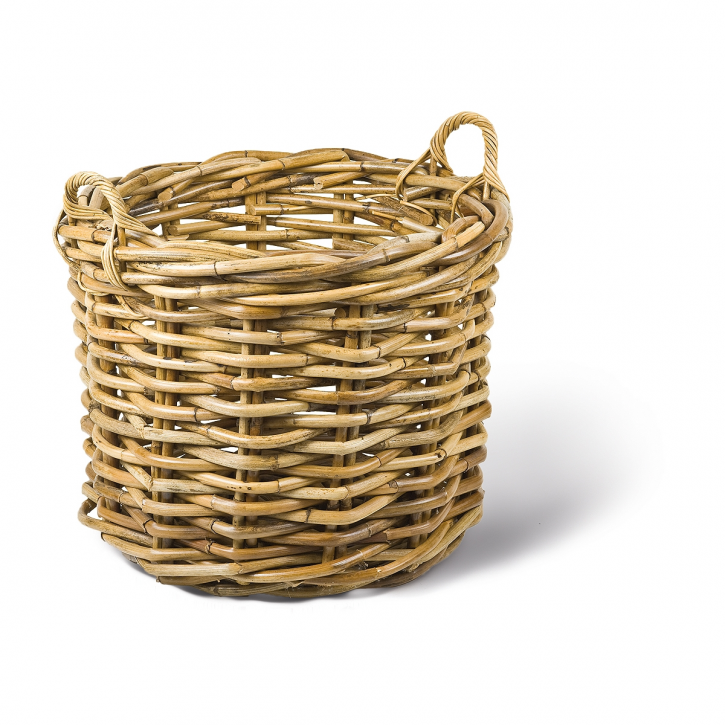 Riesenrohrkorb rund, natur/braun