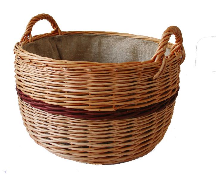 Kaminholzkorb, Holzkorb aus Vollweide, ø 50, H 28 cm