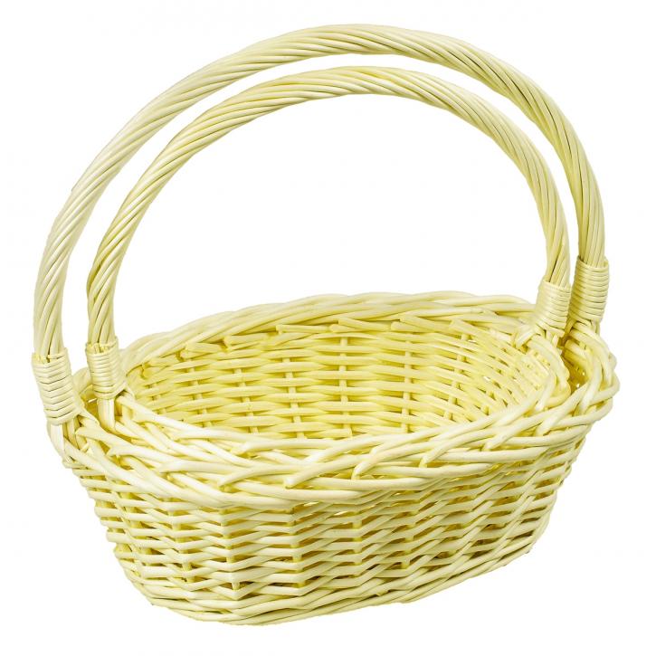 Henkelkorb oval, gelb