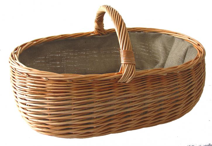 Kaminholzkorb, Holzkorb aus Vollweide