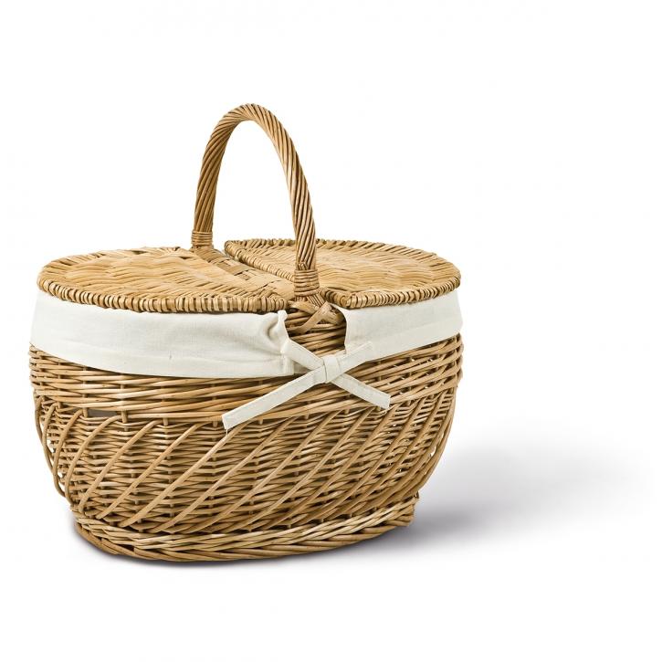 Picknickkorb oval, braun