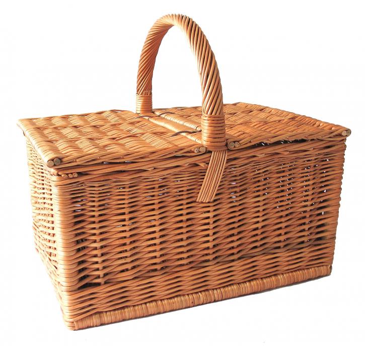 Picknickkorb rechteckig, braun