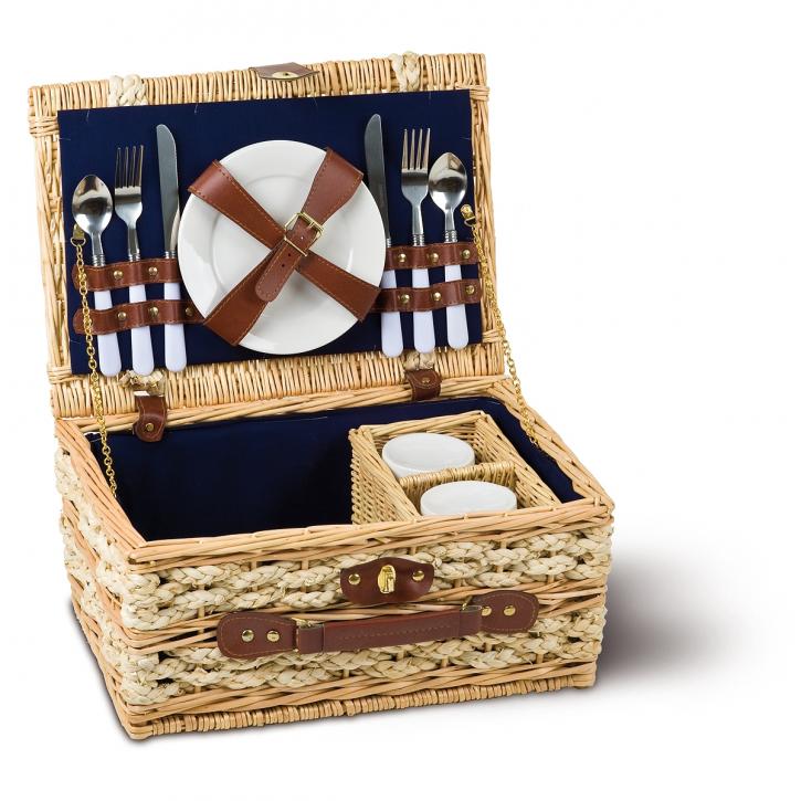Picknickkorb rechteckig, natur/hellbraun