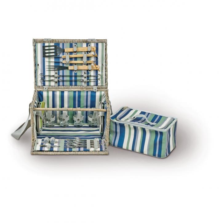 Picknickkorb rechteckig, grau