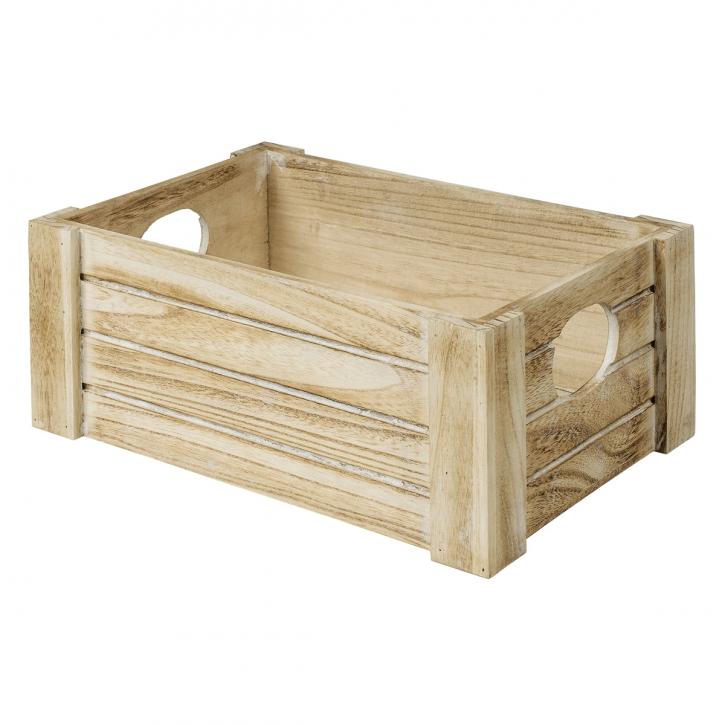 Holzsteige rechteckig, hellbraun