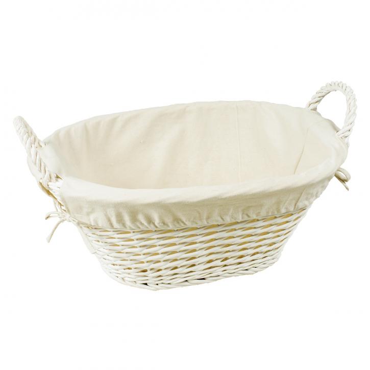 Waschkorb oval, weiß