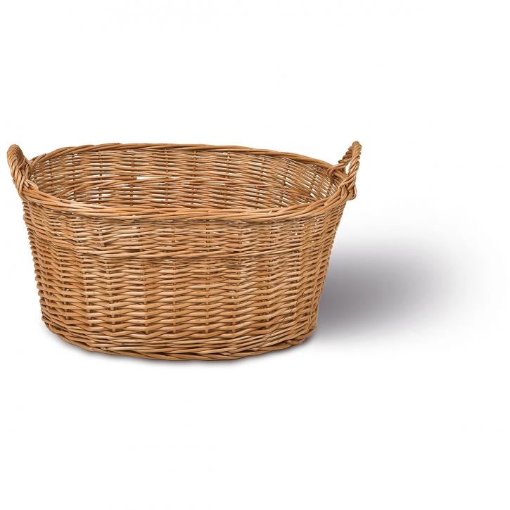 Wäschekorb oval, braun