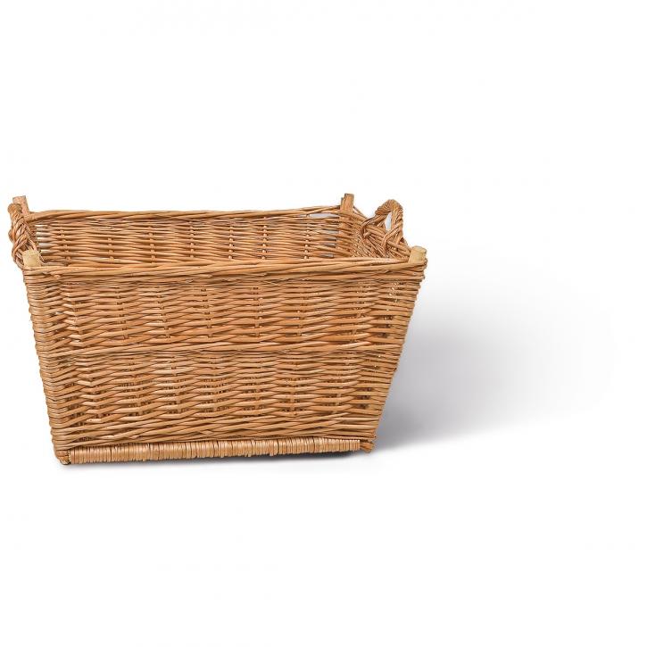 Wäschekorb rechteckig, braun