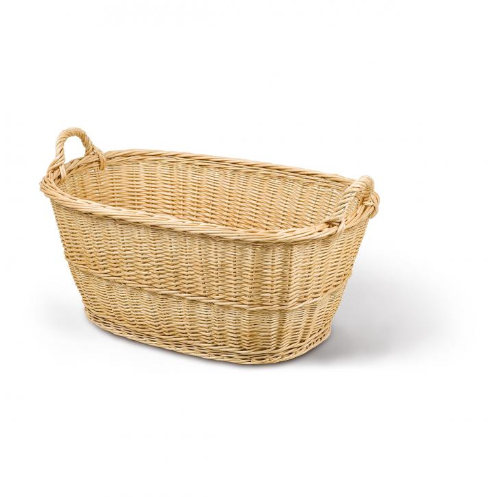 Waschkorb oval, hellbraun