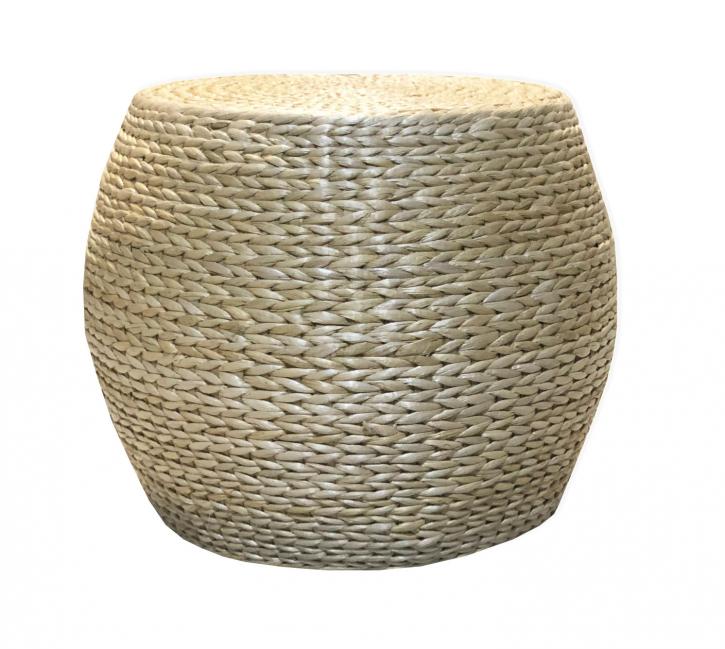 Sitzhocker aus Wasserhyazinthe, braun