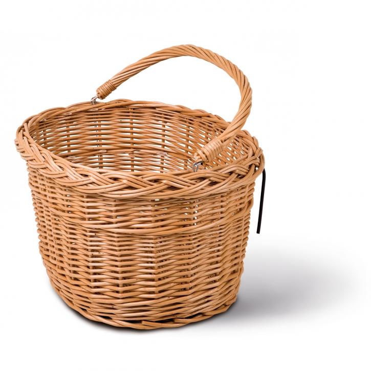 Fahrradkorb oval, braun