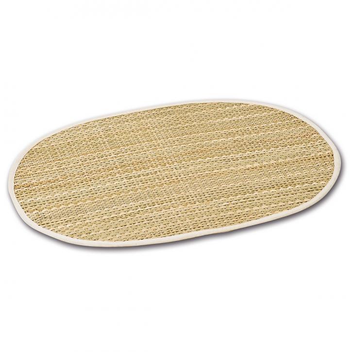 Tischset oval, hellbraun