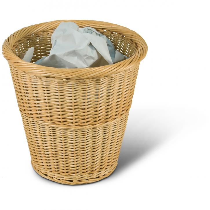Papierkorb rund, hellbraun