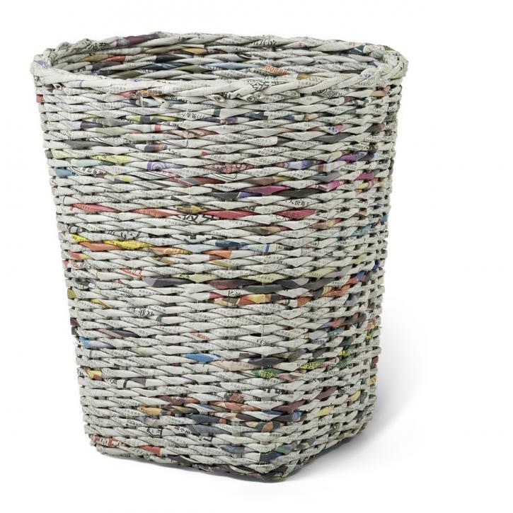 Papierkorb rund, grau/mehrfarbig