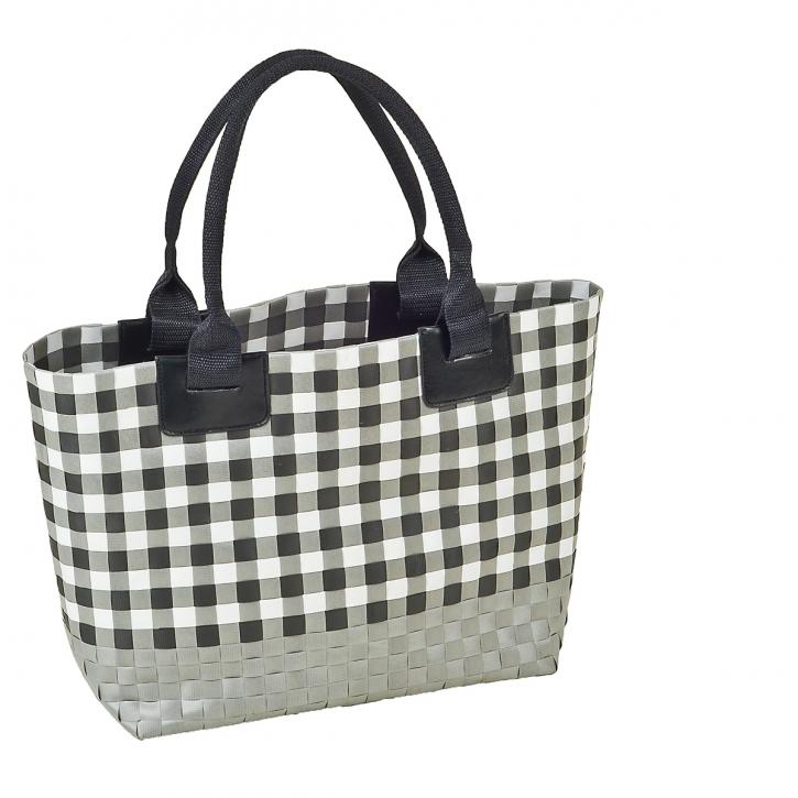 Tasche rechteckig, grau/weiß