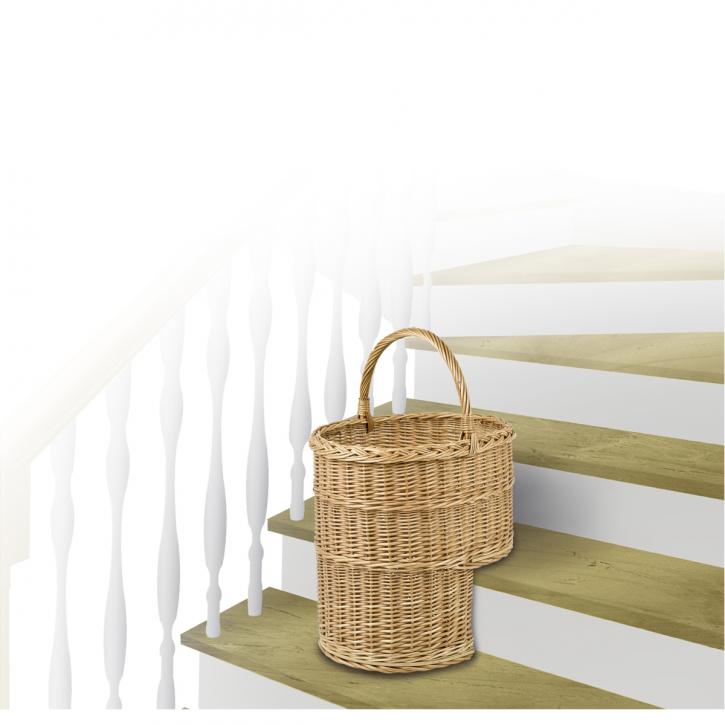 Treppenkorb oval, braun