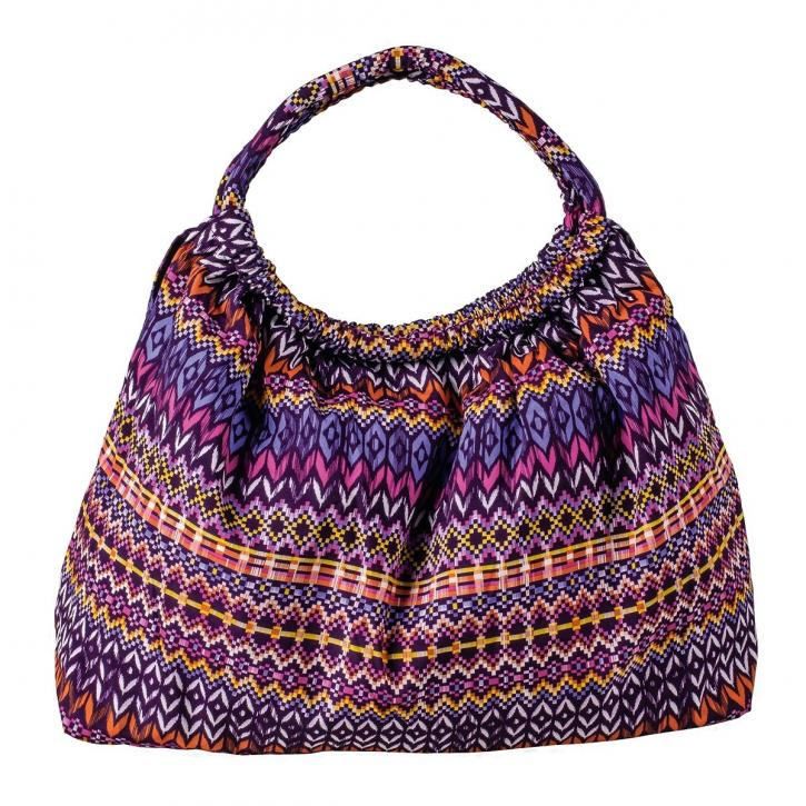 Tasche rechteckig, lila/mehrfarbig