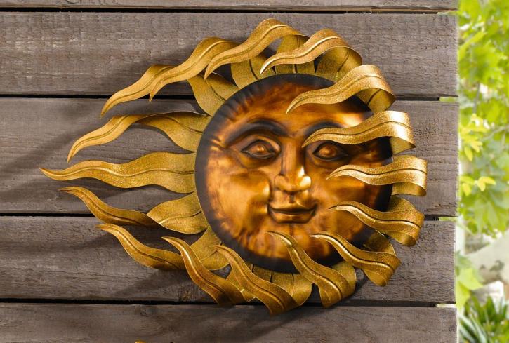 Metall-Hänger 'Flammende Sonne', groß